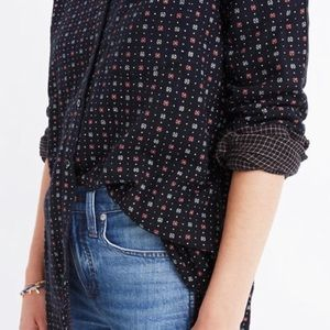 Madewell Ex Boyfriend Flannel shirt. Medium